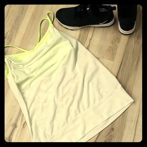 Workout tank with built in bra